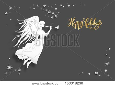 Dark holiday card