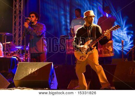 A brazilian band in live concert in Skopje, Macedonia