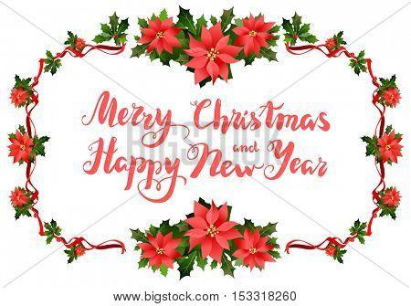 Merry Christmas festive frame