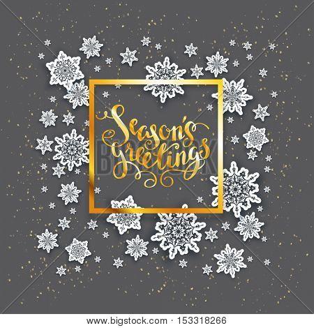 Dark snowflakes Christmas card
