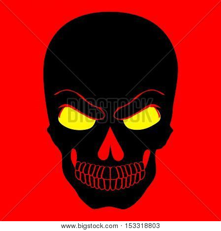Simple web icon in vector of skull