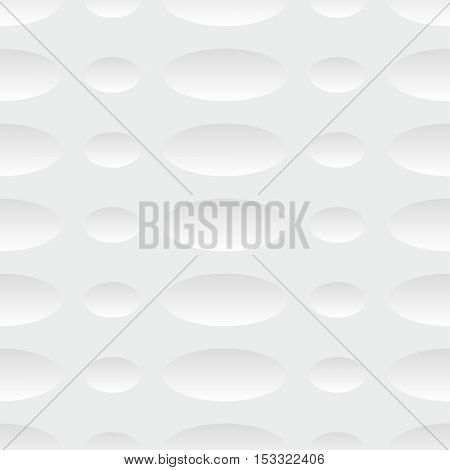 Seamless Circle and Ring Pattern. Vector Soft Background. Regular White Texture