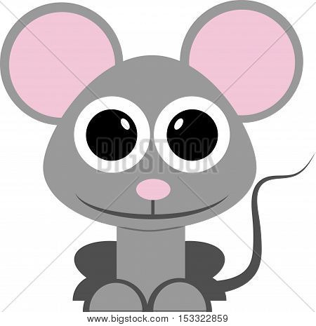 mouse vector isolated illustration rat animal cute drawing
