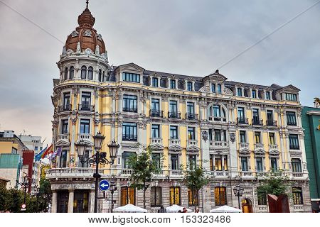 Neighborhoods of the old city of Oviedo on October 20, the date of the Princess of Asturias awards. spain