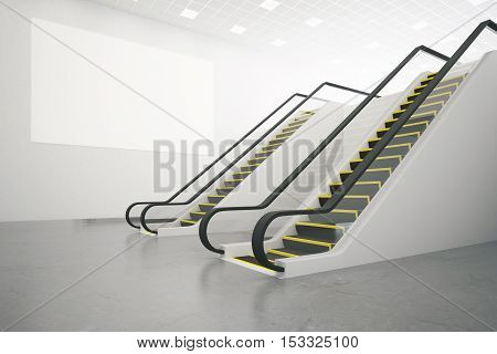 Escalator And Poster Side