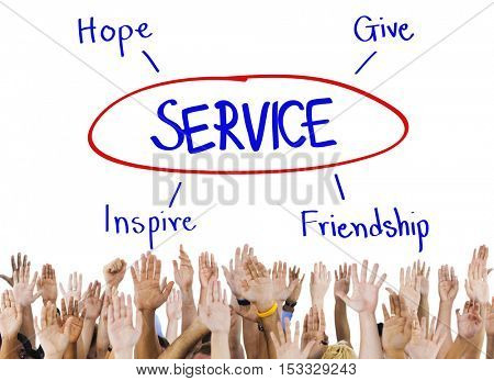 Service Support Care Assistance Help Concept