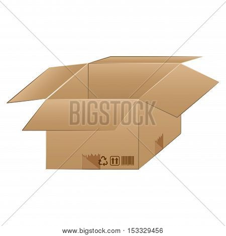 carton box icon. delivery and package design. vector illustration