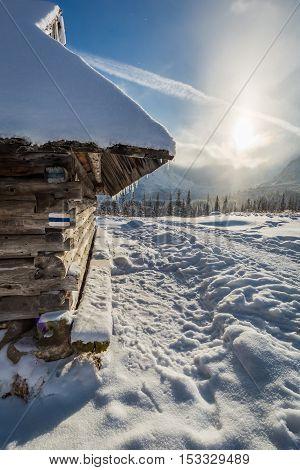 Mountain Trail To The Peak At Winter, Poland