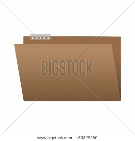 document folder office object icon over white background. vector illustration