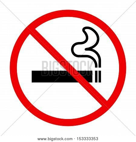 No smoking sing on white background, vector illustration