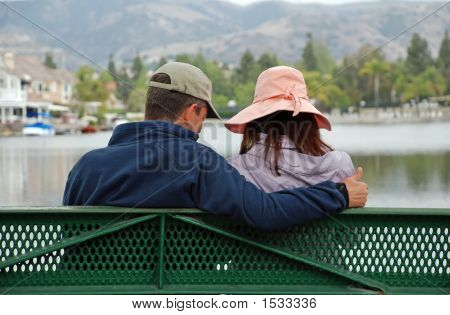 Couple By The Lake - Thumbs Up