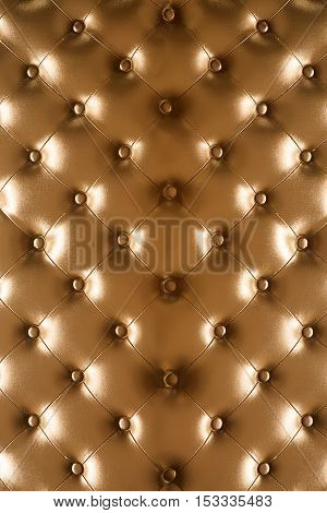 Vintage  Leather Sofa Button For Textured Background. Textured Retro Background.