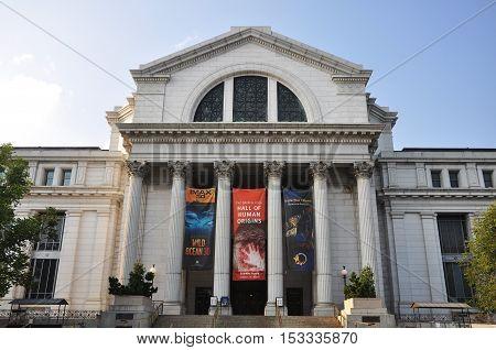 WASHINGTON DC - AUG 9, 2010: National Museum of Natural History in Washington DC, USA.