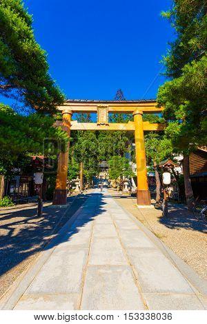 Entrance Sakurayama Hachiman-gu Shrine Takayama V