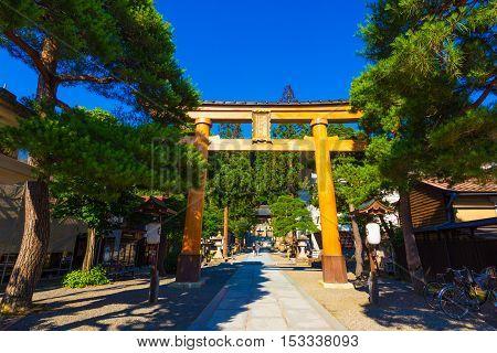 Torii Gate Sakurayama Hachiman-gu Shrine Takayama