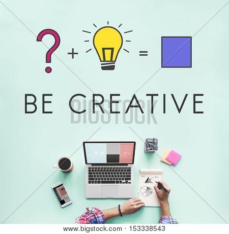 Creative Curiosity Ideas Equation Concept