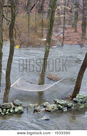 View Of Flood In Backyard