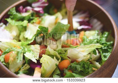 Tossing Garden Salad