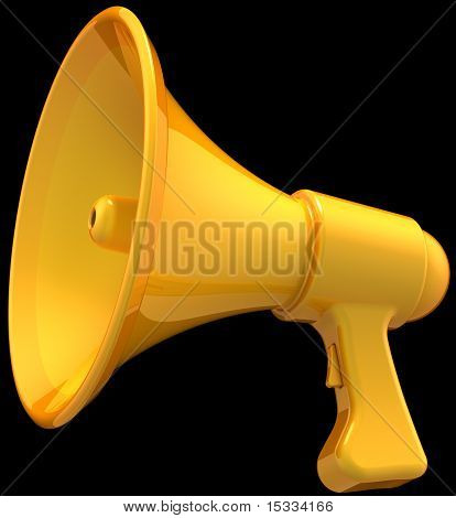 Yellow megaphone icon