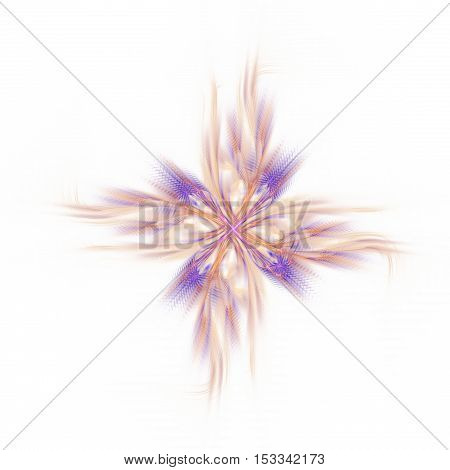 Abstract fractal cross computer generated image on white background