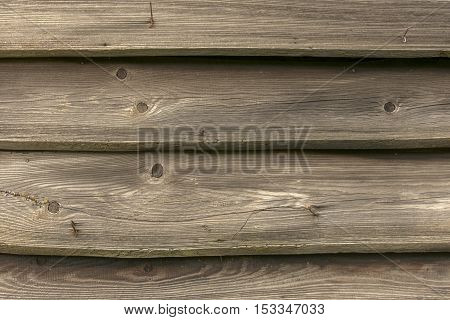 Horizontal wooden planks with wire - texture or background