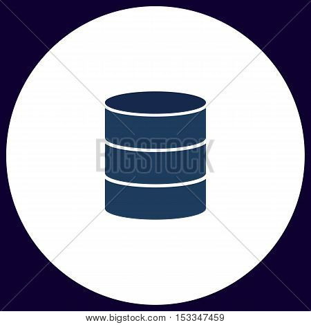 Database Simple vector button. Illustration symbol. Color flat icon