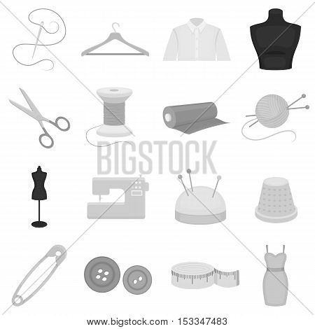 Atelie set icons in monochrome style. Big collection of atelie vector symbol stock