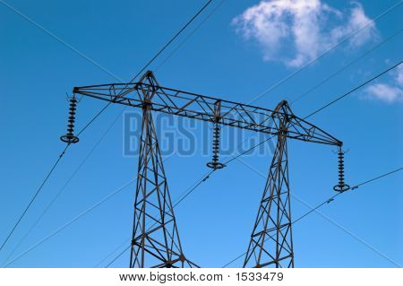 High-Voltage Power Transmission Tower
