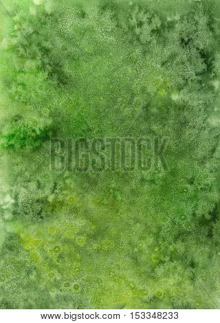 Vivid Watercolor Background with Bright Green Splash