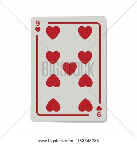 casino heart cards poker icon over white background.  gambling games design. vector illustration