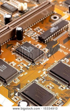 Close-up of Computer Mainboard