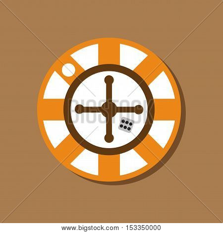 paper sticker on stylish background of roulette casino