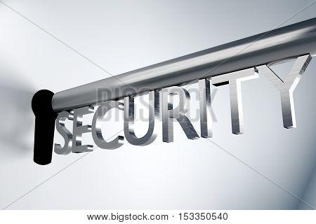 metal key security lock keyhole secure 3D Illustration