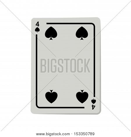 casino spade cards poker icon over white background.  gambling games design. vector illustration