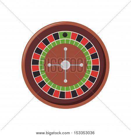 roulette machine over white background. casino gambling games design. vector illustration