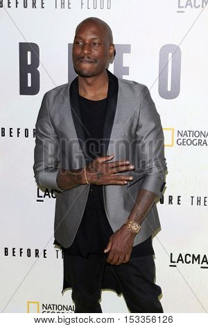 LOS ANGELES - OCT 24:  Tyrese Gibson at the Screening Of National Geographic Channel's