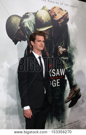 LOS ANGELES - OCT 24:  Andrew Garfield at the
