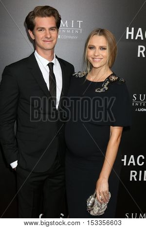 LOS ANGELES - OCT 24:  Andrew Garfield, Teresa Palmer at the