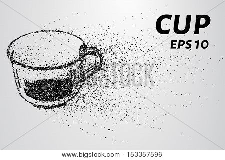Cup of the particles. The Cup scattered on the circles and points.