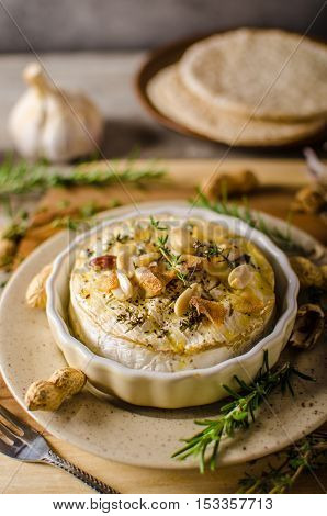 Baked Camembert With Nuts
