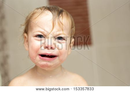 Child Crying In Bath
