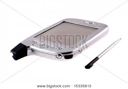 pocket pc isolated on white