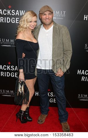 LOS ANGELES - OCT 24:  Mindy Couture, Randy Couture at the