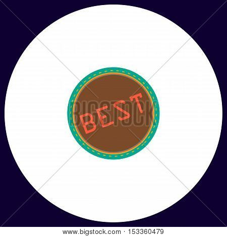 Best Simple vector button. Illustration symbol. Color flat icon