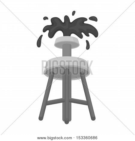 Oil rig icon in monochrome style isolated on white background. Arab Emirates symbol vector illustration.