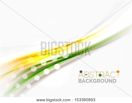 Wave abstract background, vector template