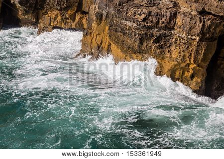 surf ocean waves motion on the rock