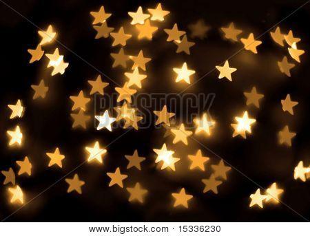 Gold stars bokeh background