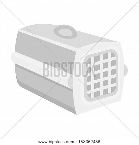 Pet case icon in monochrome style isolated on white background. Cat symbol vector illustration.