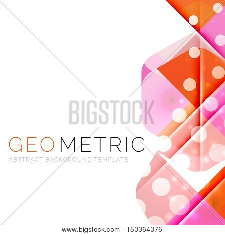 Shiny geometric abstract background